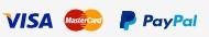 Paga con PayPal o con tarjera de crédito
