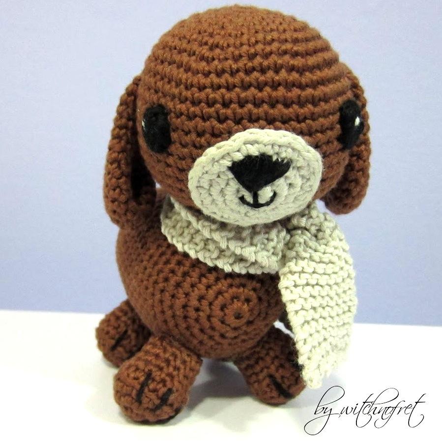 Fantástico Crochet Patrón De Perro Libre Friso - Manta de Tejer ...