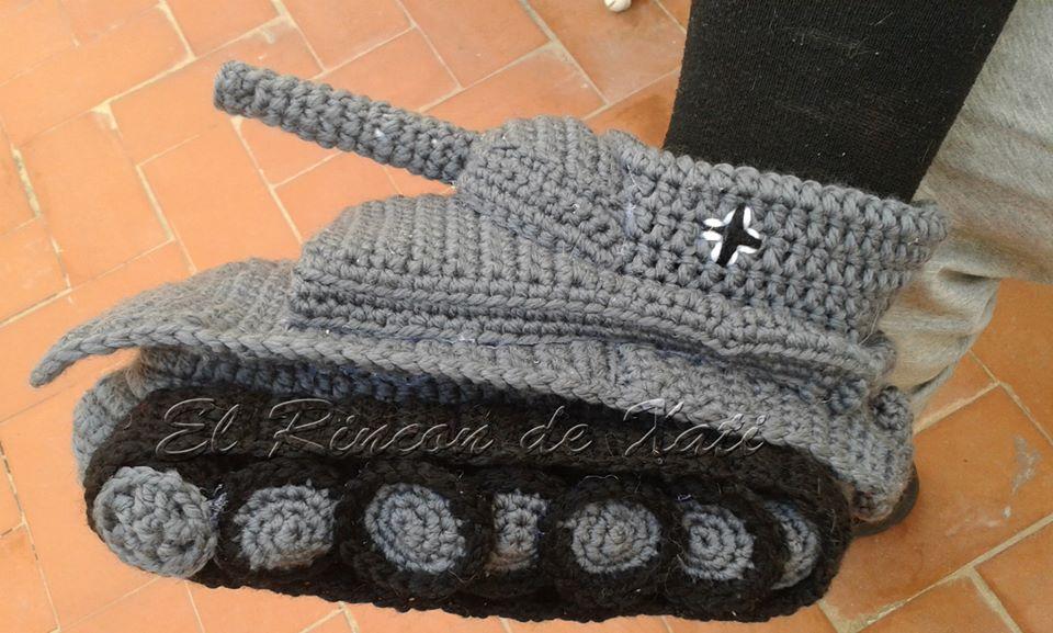 Magnífico Patrón De Zapatillas Tanque Crochet Galería - Manta de ...