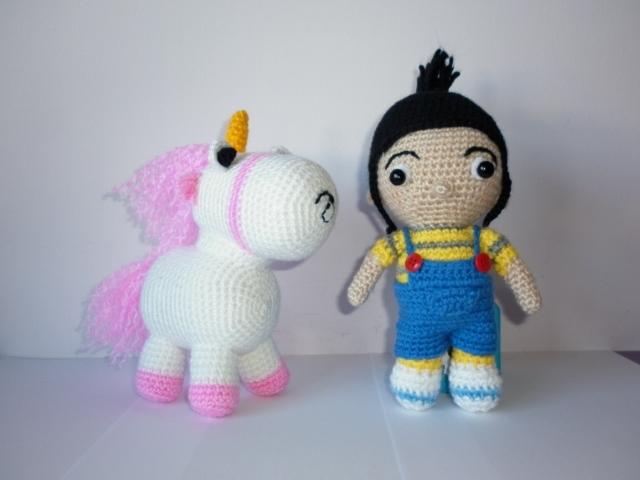 Unicornio Agnes Mi Villano Favorito Tejido Amigurumi Croche ... | 480x640