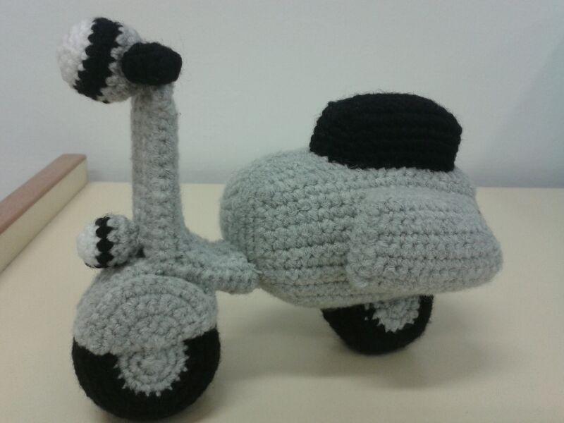 No es mi moto, pero es casi tan molona como ella. (Foto: Patrones Amigurumi)
