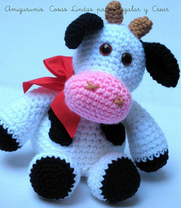 Vaca amigurumi patron gratis - Imagui