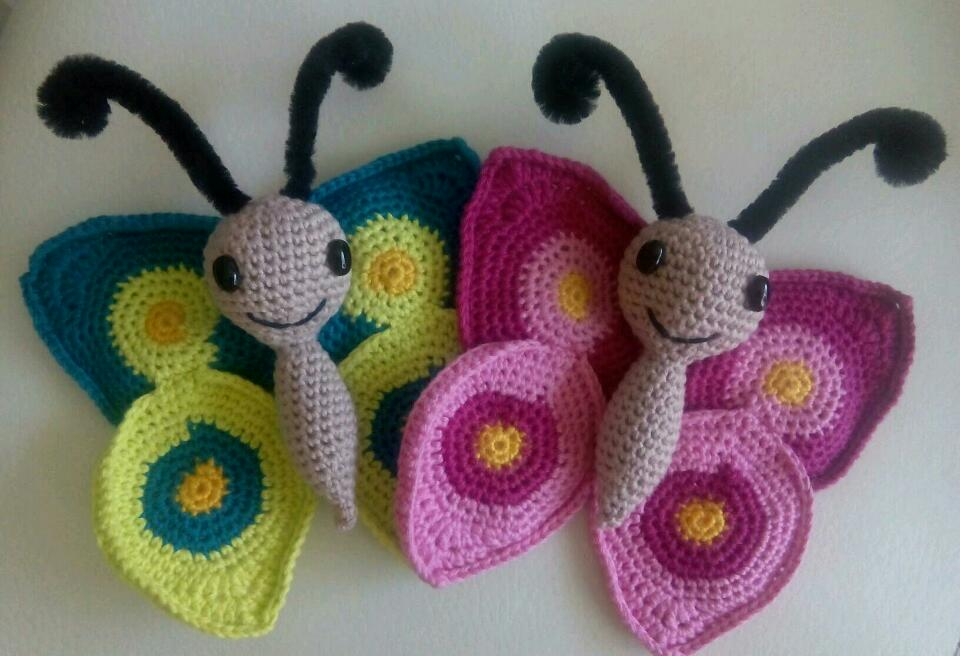 Excepcional Mariposa Patrones De Crochet Libre Viñeta - Manta de ...