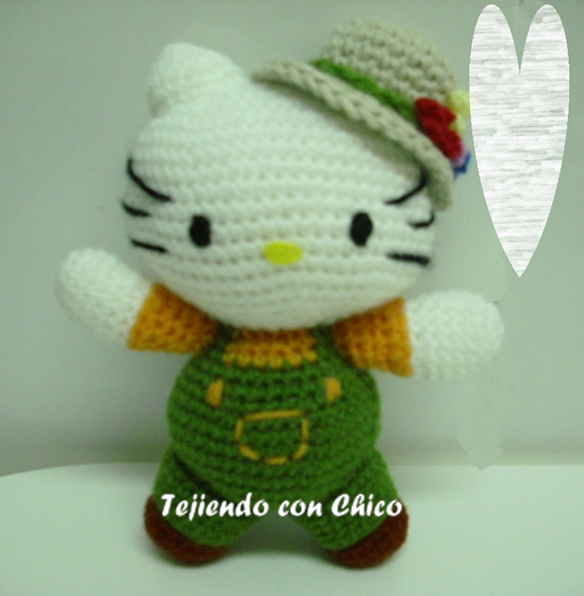 Crochet Hello Kitty Pooh and Eeyore | Hello kitty crochet, Hello kitty  crafts, Hello kitty | 596x584