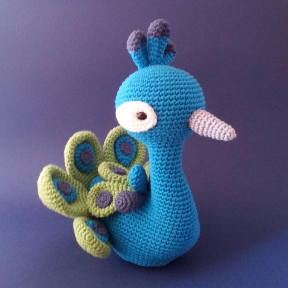Perfecto Patrón De Crochet Pavo Real Fotos - Ideas de Patrones de ...